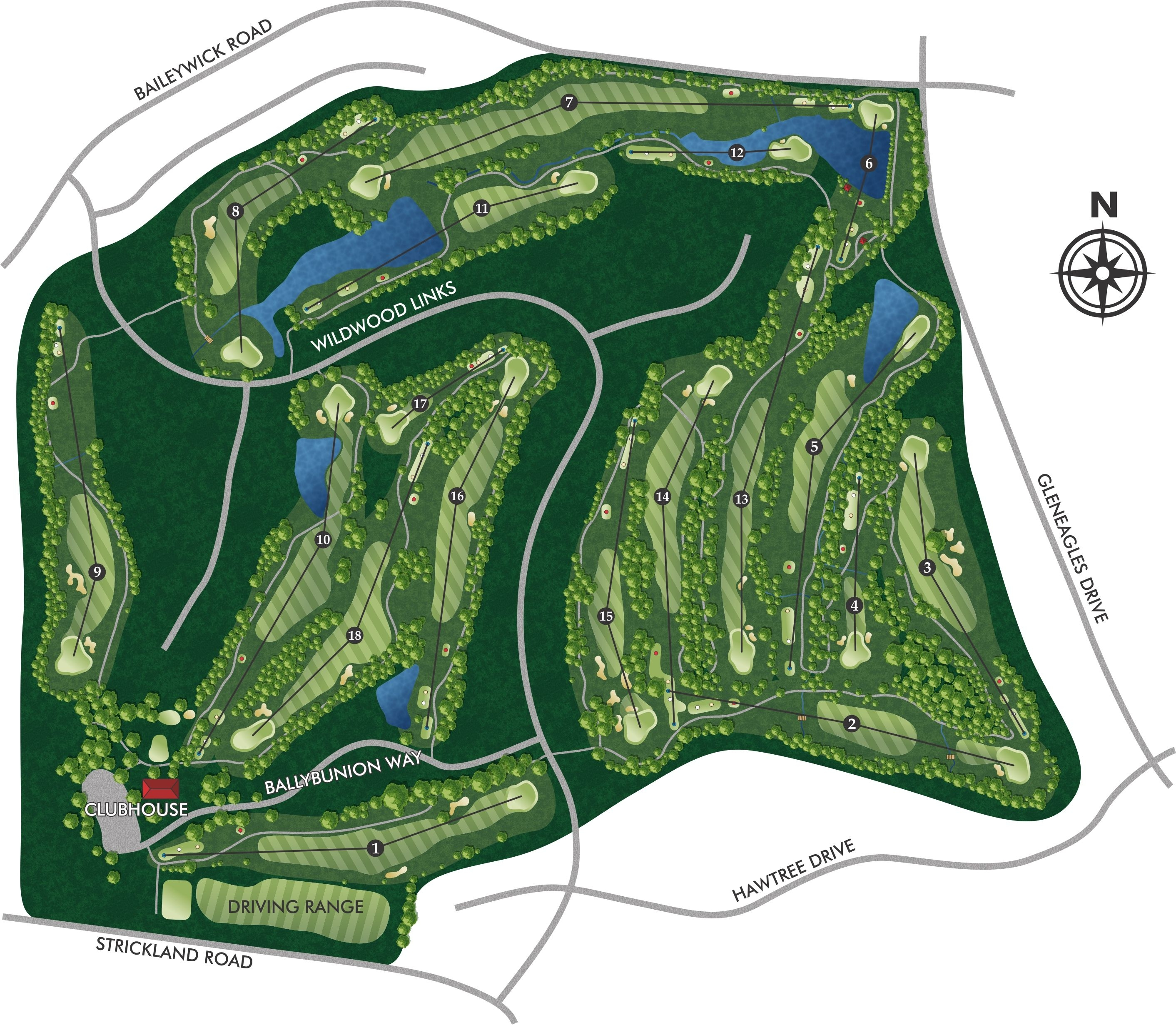 Wildwood-Green-Course-Map-and-Overview-of-Layout